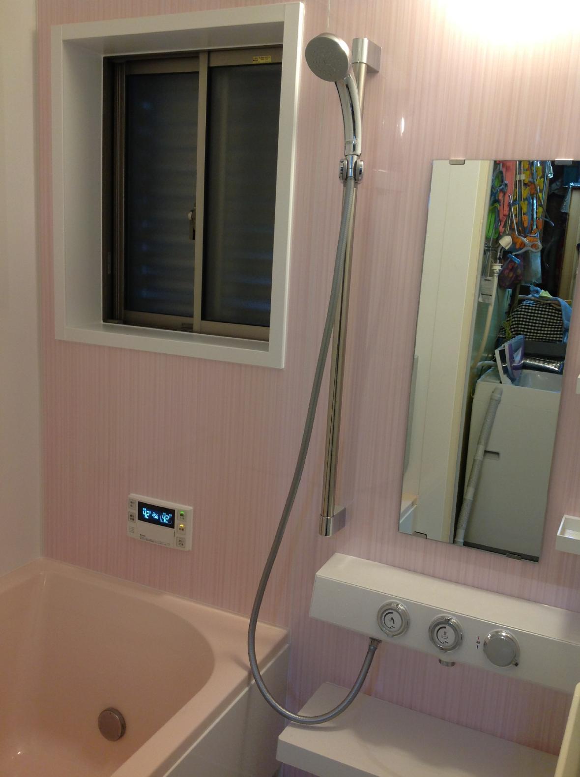 東京都 足立区 風呂リフォーム 給湯器交換 工事後